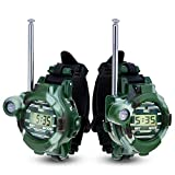 Walkie Talkies for Kids, Two-Way Radios Long Range Kids Watch Walky Talky with Flashlight for Outdoor Sport Hiking, Cool Outdoor Toys Gifts for Boys and Girls(1pair)
