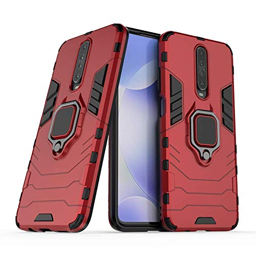 Cassby Ring Holder Hybrid Back Cover for Xiaomi Mi K30 (Red) 169