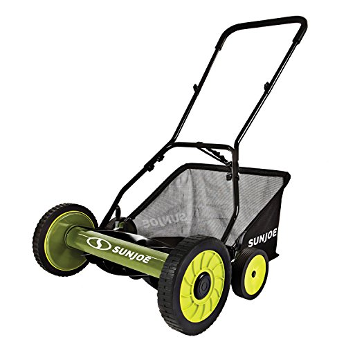 Snow Joe MJ501M 18' Manual Reel Mower with Catcher
