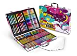 Crayola Inspiration Art Case In Pink, Portable Art & Coloring Supplies, 140 Pieces, Gift for Kids