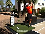 The Original Country Club Elite Real Feel Golf Mats 5'x5' Heavy Duty Commercial Practice Mat. The First Golf Mat That Takes A Real Tee and Lets You Swing Down Through,Simulator,Indoor, Outdoor Use
