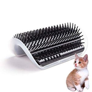 HATELI Cat Corner Self Groomer Brush - Cat Groomer, Cat Wall Corner Massage Comb to Control Shedding Fur and Itching 9