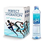 Perfect Hydration Alkaline Water, 9.5+ pH | Ultra Purified, Electrolyte Enhanced Drinking Water, 33.8 Fl. Oz (Pack of 6)
