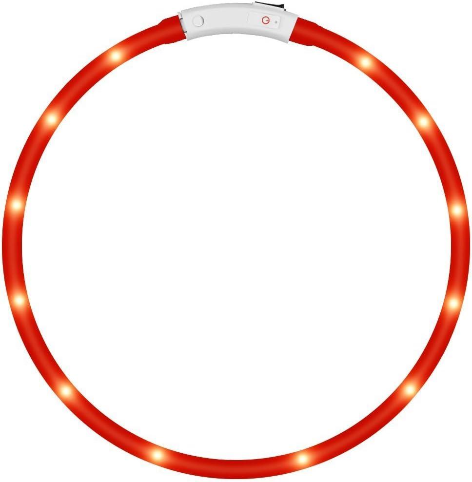 KEKU LED Collar de Perro de Mascota, llevó USB Recargable Collar de Seguridad para Mascotas