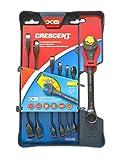 Crescent 7 Pc. X6 Black Oxide Spline Open End Ratcheting Combination SAE Wrench Set - CX6RWS7