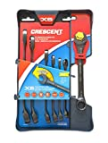 Crescent 7 Pc. X6 Black Oxide Spline Open End Ratcheting Combination SAE Wrench Set - CX6RWS7
