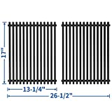 SHINESTAR 13 1/4 x 17 inch Grill Grates Replacement for Nexgrill 720-0830H, 720-0783E, 720-0783C, Kenmore 122.16641900, 122.16119, Porcelain-enameled Steel Cooking Grates for Members Mark (SS-KW011)
