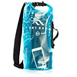 Acrodo New Waterproof Dry Bag Transparent Arctic Blue 10 Liter Floating for Boating, Camping, and Kayaking with Shoulder Strap - Keeps Clothing & Electronics Protected