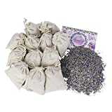 12 Lavender Flower Sachets Craft Bag Kit of Made-by-You Handmade Sachets with Muslin Bags, Drawer Freshener, Linen, Shower Favor, Wedding Gift, Closet, Laundry, Spa and More - by Lavande Sur Terre
