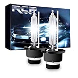 RCP - D4S6 - (A Pair) D4S/ D4R 6000K Xenon HID Replacement Bulb Diamond White Metal Stents Base 12V Car Headlight Lamps Head Lights 35W