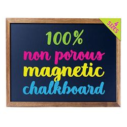 Cedar Markers 27″x20″ Framed Chalkboard Sign. 100% Non-Porous Erasable Blackboard and Whiteboard. Chalk Board for Chalk Markers. Homeschool Magnet Board Decorative Chalkboard for Every Event (27×20)