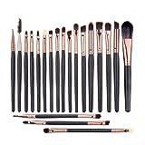 UNIMEIX Eye Makeup Brushes Set Eyeliner Eyeshadow Blending Brushes ( 20 Pieces Coffee)