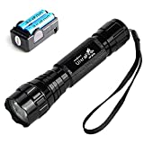 UltraFire WF501B 800 Lumens 5-Modes Waterproof Led Tactical Mini Flashlight, with Rechargeable Batteries and 18650 Charger