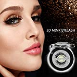 Self Adhesive Eyelashes - Mink 3D False Eyelashes- 3 Seconds to Wear, No Glue Involved & Reusable - Natural Fashion Eye Lash Extensions for Fashion &Makeup