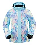 Andorra Snow Jacket Hooded Sportswear Outdoor Insulated Windproof Jacket,Van Gogh Cotton Candy,M