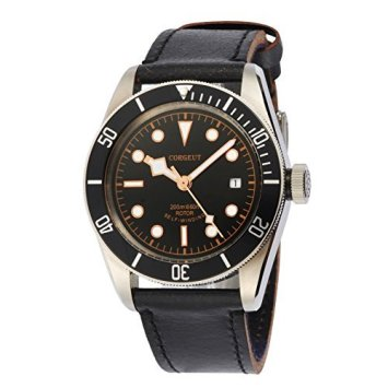 41mm Corgeut Sapphire Glass Black Bezel Citizen Miyota Automatic Wrist Watch