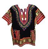 Men Dashiki Shirt African Caftan Black-Pink New XXXXXL