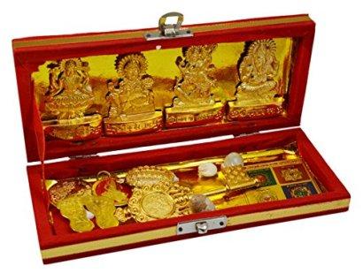 Amazing-India-Brass-Sri-Dhan-Laxmi-Kuber-Bhandari-Yantra-Gold15-Inch-X-23-Inch-X-11-Inch