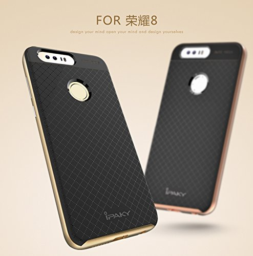 51SEJLS68hL - Case Creation Hybrid Ultra Thin Shockproof Back Bumper Cover for Huawei Honor 8 4GB Android 6.0 4G LTE 5.2 Inch (Champaine Gold)