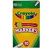 Crayola Original Marker Set, Fine Tip, Assorted Classic Colors, Set of 10
