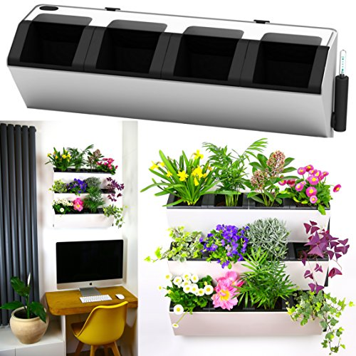 MyEasygro Self Watering Wall Planter by for Indoor and Outdoor   Mounted Hanging Vertical Urban Garden Decor   Green Wall Pots for Flowers, Plants, Herbs, Vegetables, Seeds   22.5