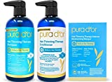 PURA D'OR Hair Thinning Therapy 3-piece Set, Shampoo, Conditioner & Masque for Best Results, Infused with Argan Oil, Biotin & Natural Ingredients, All Hair Types, Men & Women (Packaging may vary)
