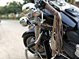 Trip Machine Company Leather Motorcycle Tassels Frills Tobacco Brown for Harley Davidson, Indian Motorcycles