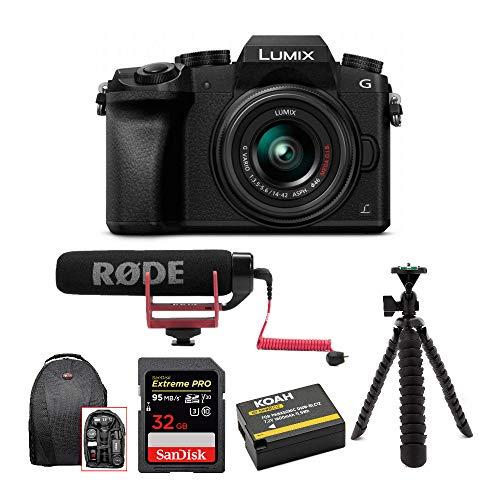 Panasonic-LUMIX-G7-Digital-Camera-with-14-42mm-f35-56-Lens-Rode-Microphone-Accessory-Bundle