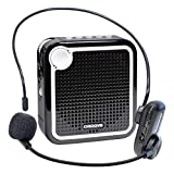 Croove Wireless Voice Amplifier: Portable Rechargeable Microphone with Headset & Belt Clip - Ideal for Classroom Teachers & Tour Guides
