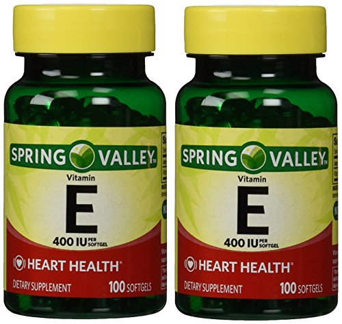 Spring Valley Vitamin E 400 IU, 100 Softgels (Pack of 2)