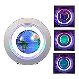 FUZADEL Magnetic Levitation Floating Globe, 4'' Electronic Antigravity Levitating Globe with Colorful LED World Map