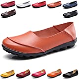 Hishoes Women's Leather Loafers & Slip-Ons Flats Driving Walking Casual Moccasins Soft Sole Shoes