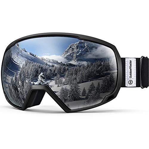 OutdoorMaster OTG Ski Goggles - Over Glasses Ski/Snowboard Goggles for Men, Women & Youth - 100% UV Protection