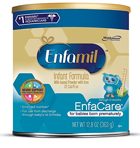 Enfamil EnfaCare Infant Formula - Clinically Proven growth benefits for premature babies - Powder Can, 12.8 oz (Pack of 6)