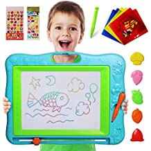 Gamenote Large Magnetic Drawing Board Education Doodle Toys for Kids, Colorful Erasable Magnet Writing Sketching Pad for Toddlers Learning