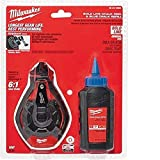 Milwaukee 48-22-3982 100 Ft. Bold Line Chalk Reel w/ Strip Guard Gearbox and 6:1 Gear Retraction...