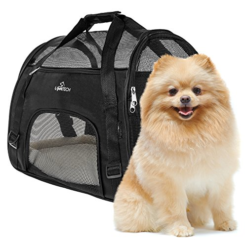 PetTech Pet Carrier for Small Dogs, Cats, Puppies, Kittens, Pets, Collapsible, Travel Friendly, Cozy and Soft Dog Bed, Carry Your Pet with You Safely and Comfortably 1