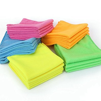Microfiber-Cleaning-Cloth--HijiNa-Pack-of-20-Size-12x12-for-Cleaning-tasks-in-The-Kitchen-Bathroom-Dining-Room-and-More-Plain-5-Colors-x-4