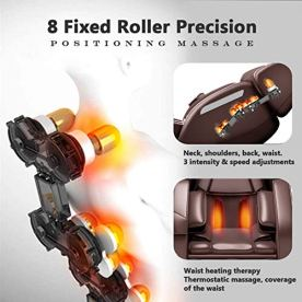 Zero-Gravity-Full-Body-Massage-Chair-Recliner-Built-in-Bluetooth-Neck-Shoulder-Back-Waist-Foot-Roller-Lower-Back-Heating-Brown