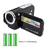 VizGiz Kids Camera 16MP Camcorder 2.0 Inch 16X Digital Zoom Mini DV AV Video Recorder HD Photo Support Memory SD Card Kid Camera for Children Boys Girls Gift Toys Outdoor (Powered by AAA Battery)