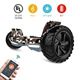HYPER GOGO Off Road, Electric Self Balancing All Terrain Hoverboard with Built-in Speaker and LED Lights,...