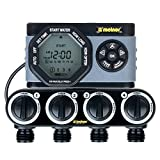 Melnor 53280 4-Outlet Digital Water Timer Simple and Flexible Programming, 4 Zone 4 Zone