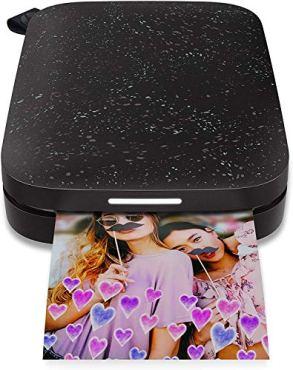 HP-Sprocket-Portable-Photo-Printer-2nd-Edition-Bundle-Black-50-Prints
