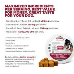 MAX-Cranberry-for-Dogs-Cures-Prevents-Painful-UTI-Urinary-Tract-Infections-Bladder-Support-Pills-Kidney-Health-No-More-Antibiotics-Incontinence-D-Mannose-Probiotics-Chews-Save-on-Vet