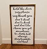 Always stay humble and kind Farmhouse sign, fixer upper style, chunky framed, hand painted. master bedroom decor