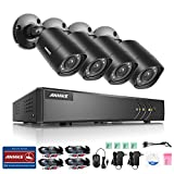 ANNKE 8-Channel HD-TVI 1080P Lite Video Security System DVR and (4) 1.0MP Indoor/Outdoor Weatherproof Cameras with IR Night Vision LEDs- NO HDD