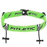 Fitletic Race Number Holder Belt, Green
