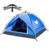 Night Cat Camping Tent 1 2 3 4 Persons Easy Instant Pop Up Tent Automatic Hydraulic Double Layer