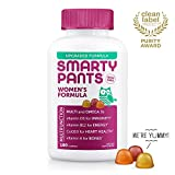 SmartyPants Womens Formula Daily Gummy Vitamins: Gluten Free, Multivitamin & Omega 3 Fish Oil (DHA/EPA), Methyl B12, Vitamin D3, Vitamin B6, 180 Count (30 Day Supply) - Packaging May Vary