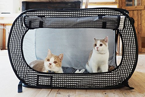 Necoichi Portable Stress Free Cat Cage Always Ready to go!